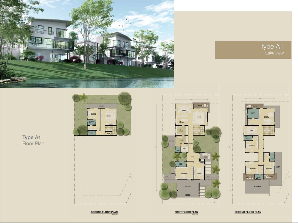 Jade Hills The Lakes Bungalows Type A1 Floor Plan