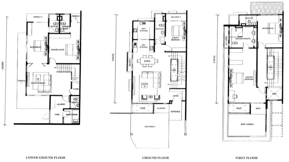 Jade Hills Twin Villas Type A Floor Plan