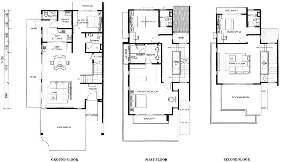 Jade Hills Twin Villas Type C Floor Plan