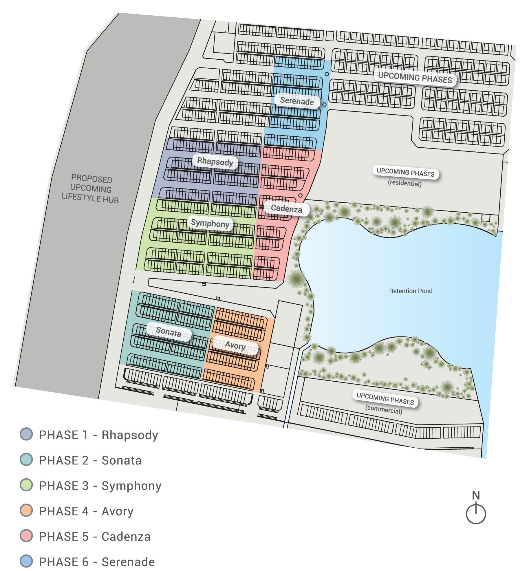 Site Plan of Lakeside Residences