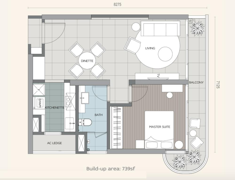 Datum Jelatek Daneeya Type A1 Floor Plan