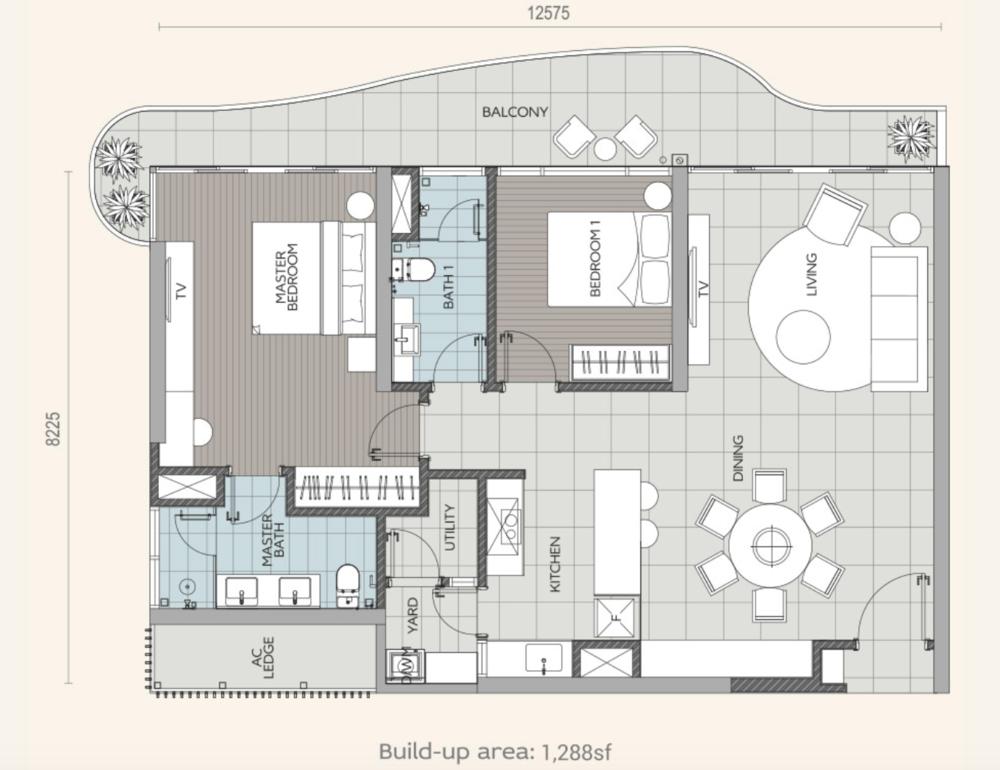 Datum Jelatek Ayaana Type B1 Floor Plan