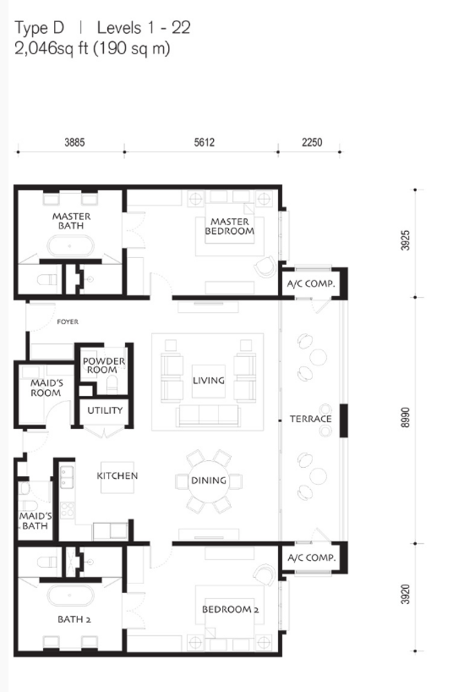 Quayside Andaman at Quayside Type D Floor Plan
