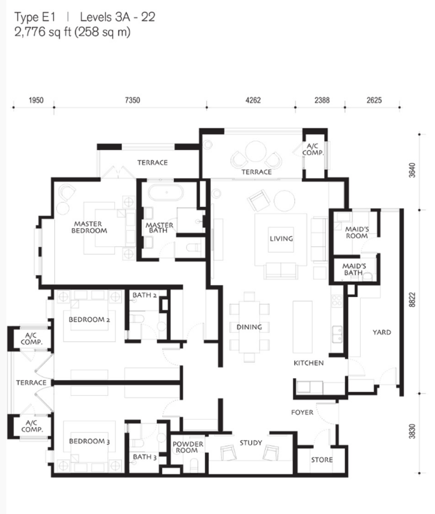 Quayside Andaman at Quayside Type E1 Floor Plan