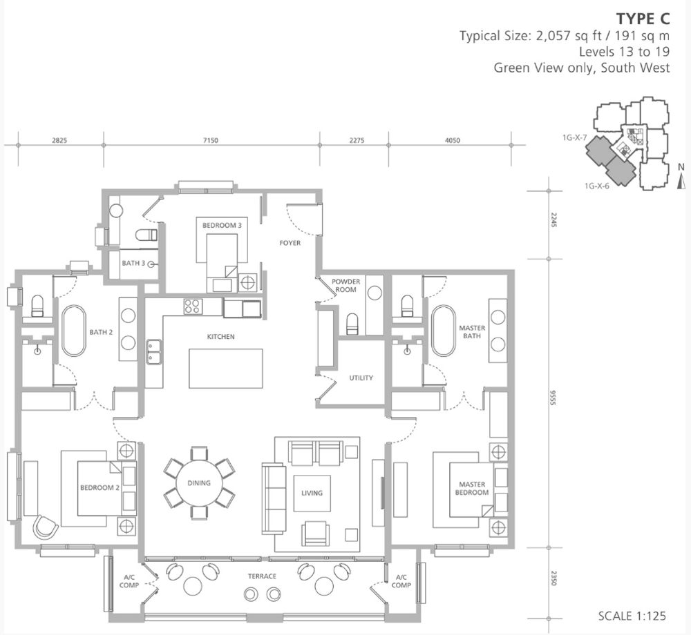 Quayside 18 East at Andaman Type C Floor Plan