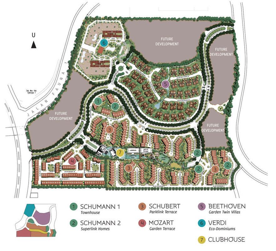 Master Plan of Symphony Hills