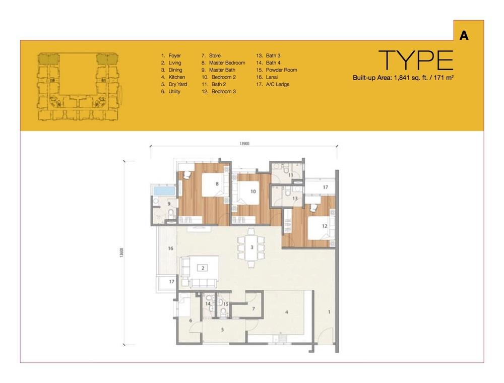 8 Petaling Type A Floor Plan