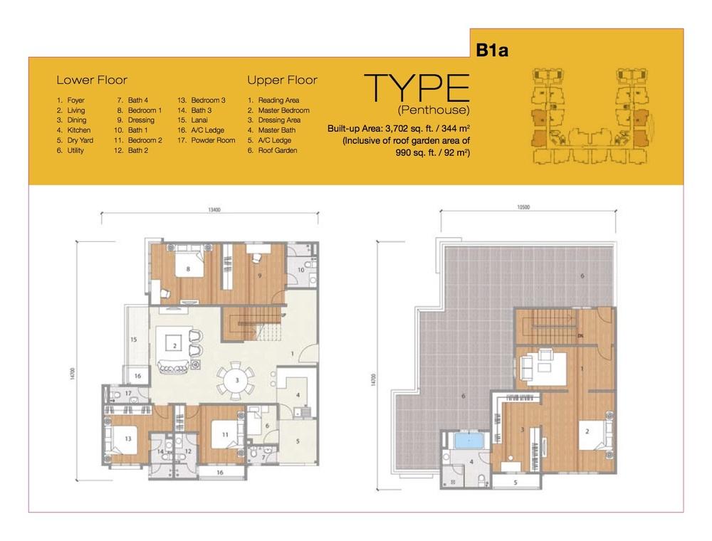 8 Petaling Type B1a Floor Plan