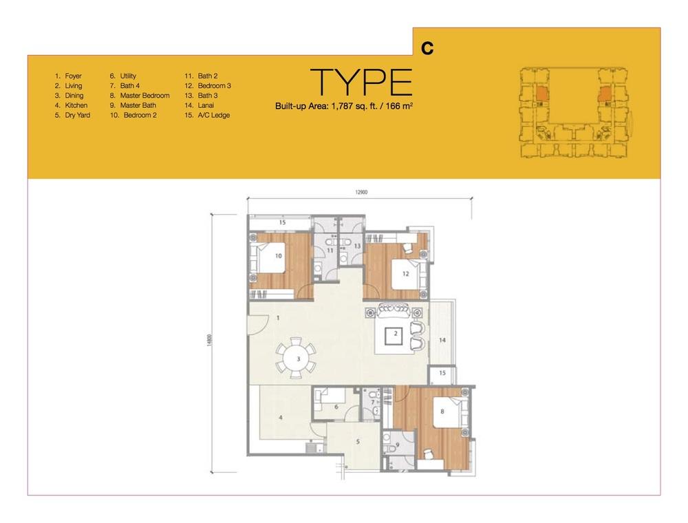 8 Petaling Type C Floor Plan