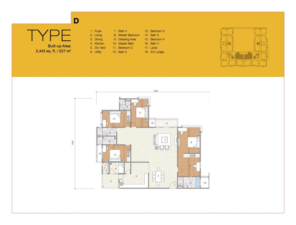 8 Petaling Type D Floor Plan