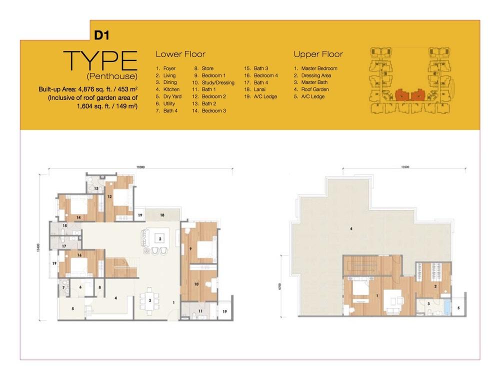8 Petaling Type D1 Floor Plan