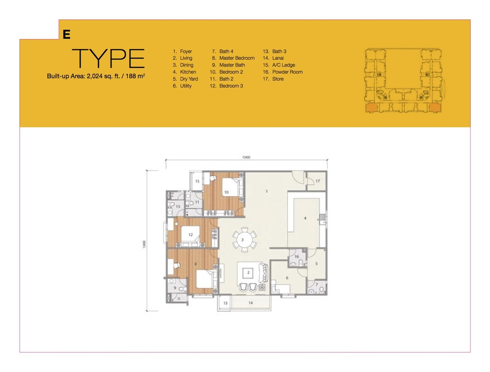 8 Petaling Type E Floor Plan