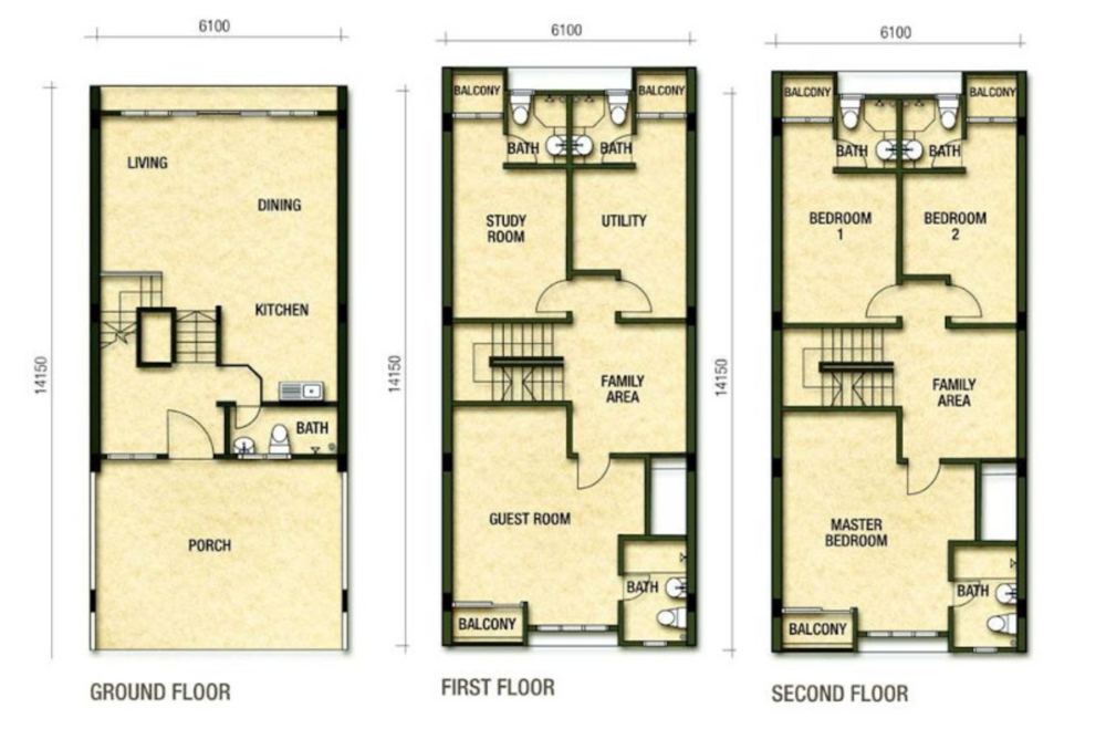 Richmont Residences Standard Unit Floor Plan