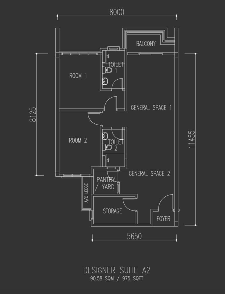 Univ 360 Place Designer Suite A2 Floor Plan