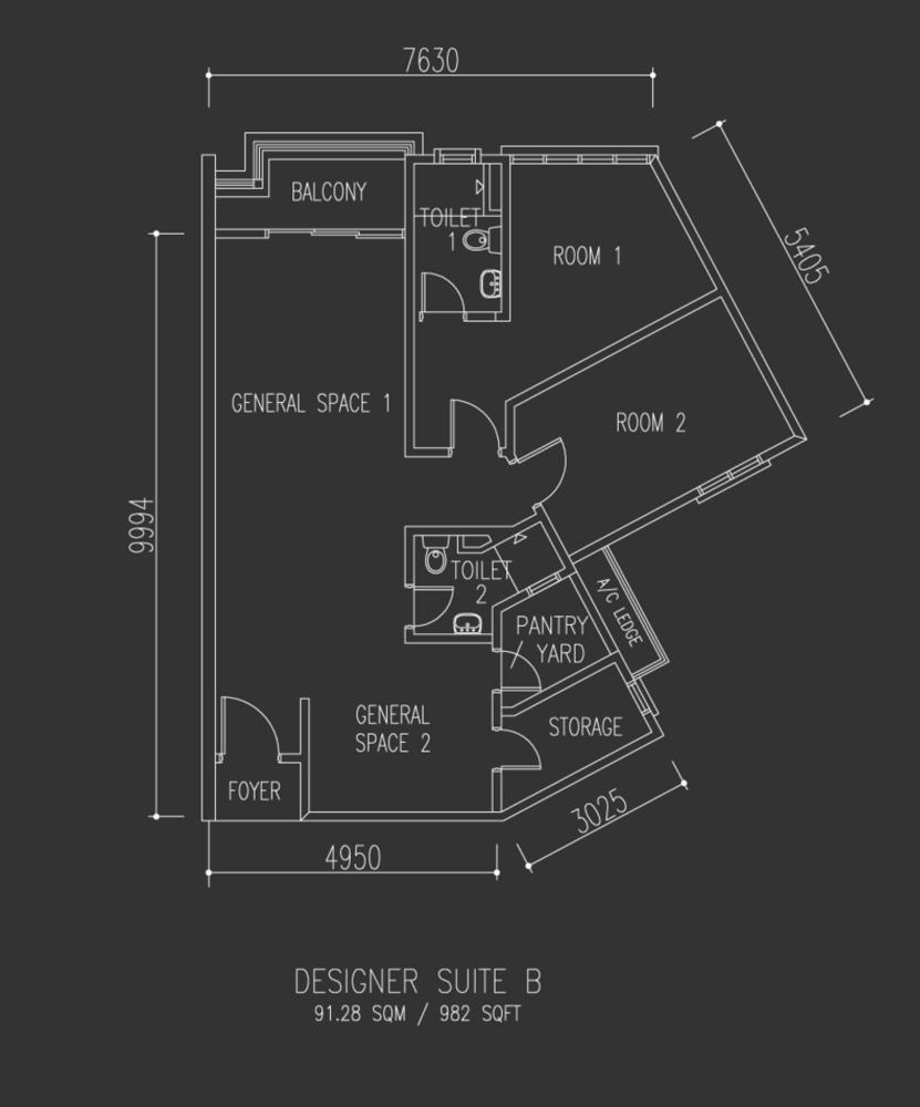 Univ 360 Place Designer Suite B Floor Plan