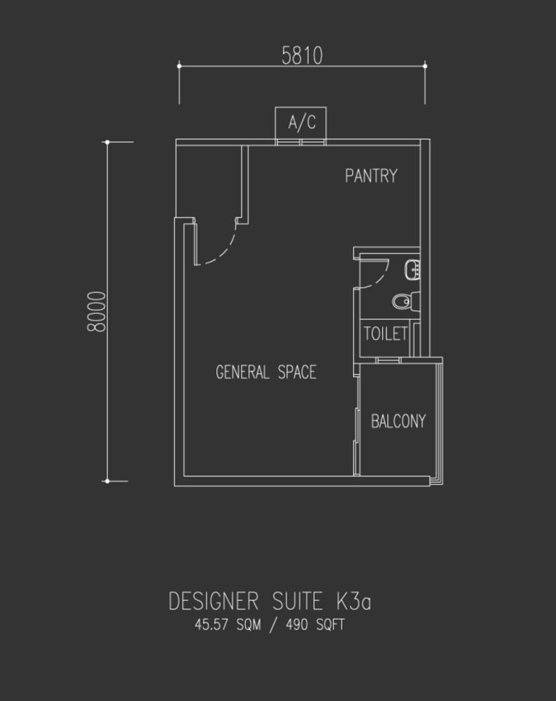 Univ 360 Place Designer Suite K3a Floor Plan
