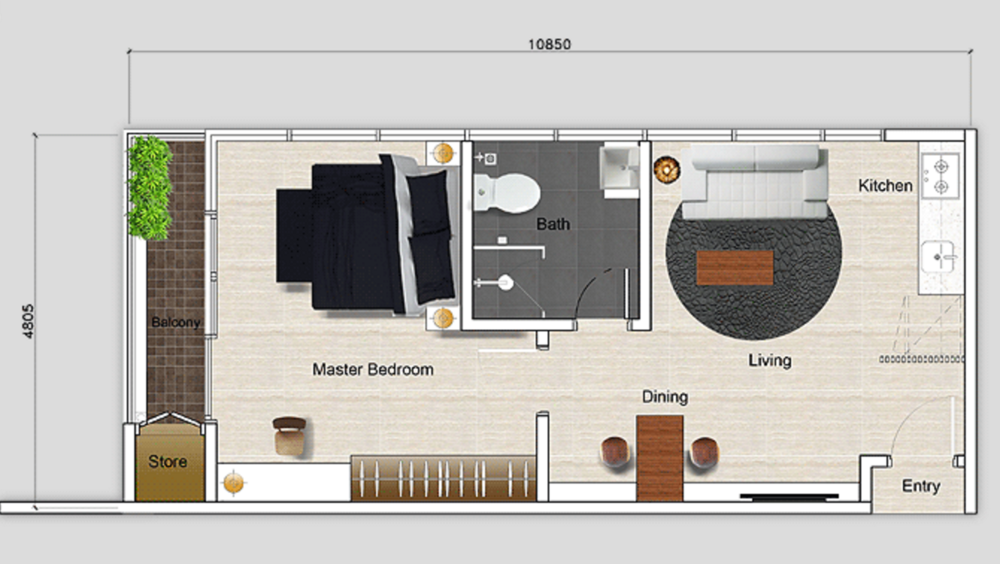 Mutiara Ville Tower J - Type B Floor Plan
