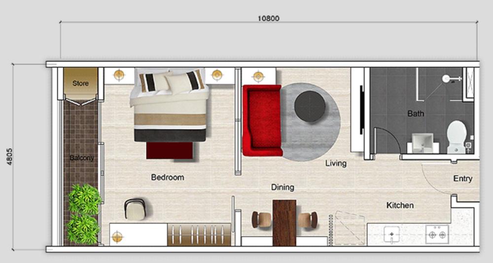 Mutiara Ville Tower J - Type C Floor Plan