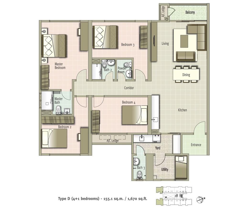 Glomac Centro Type D Floor Plan