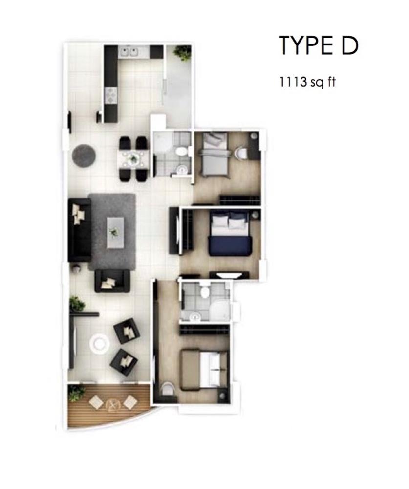 The Oasis Type D Floor Plan