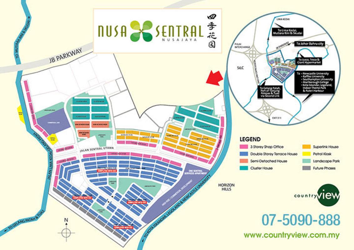 Master Plan of Nusa Sentral