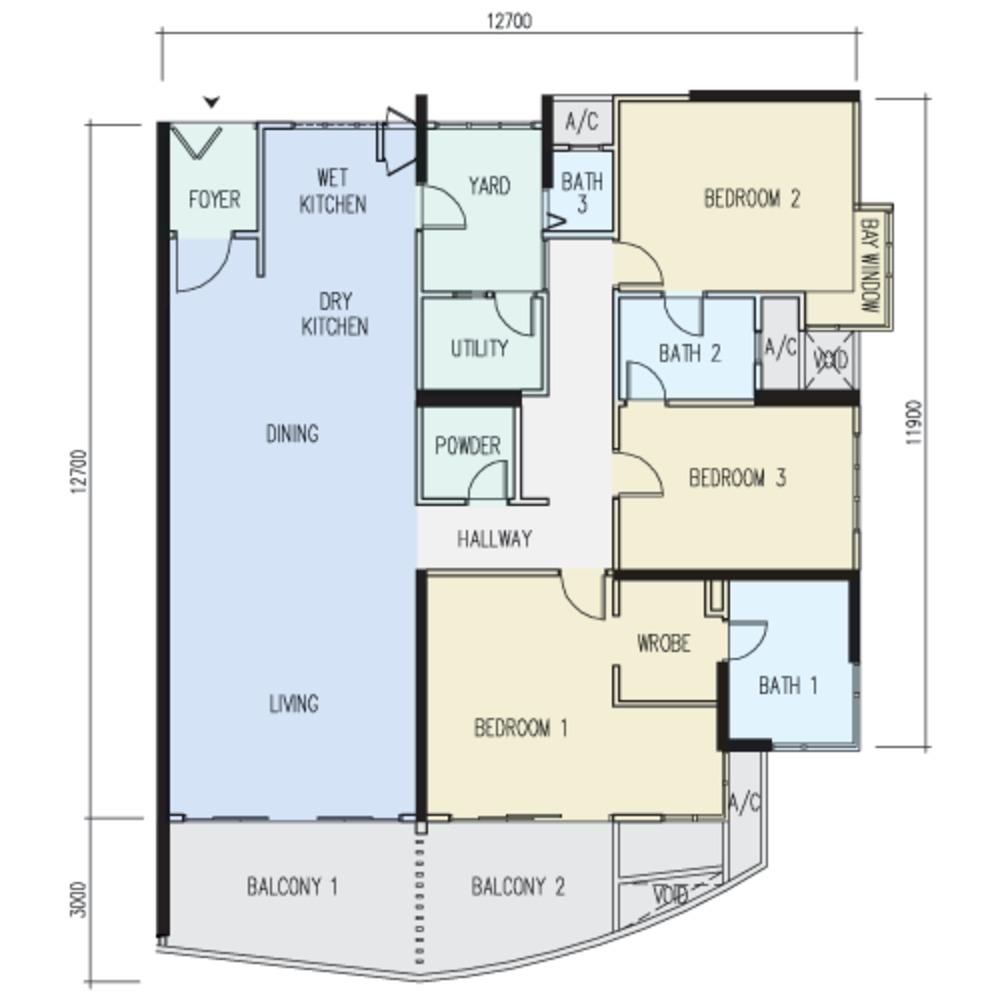 The Light Point Type B Floor Plan