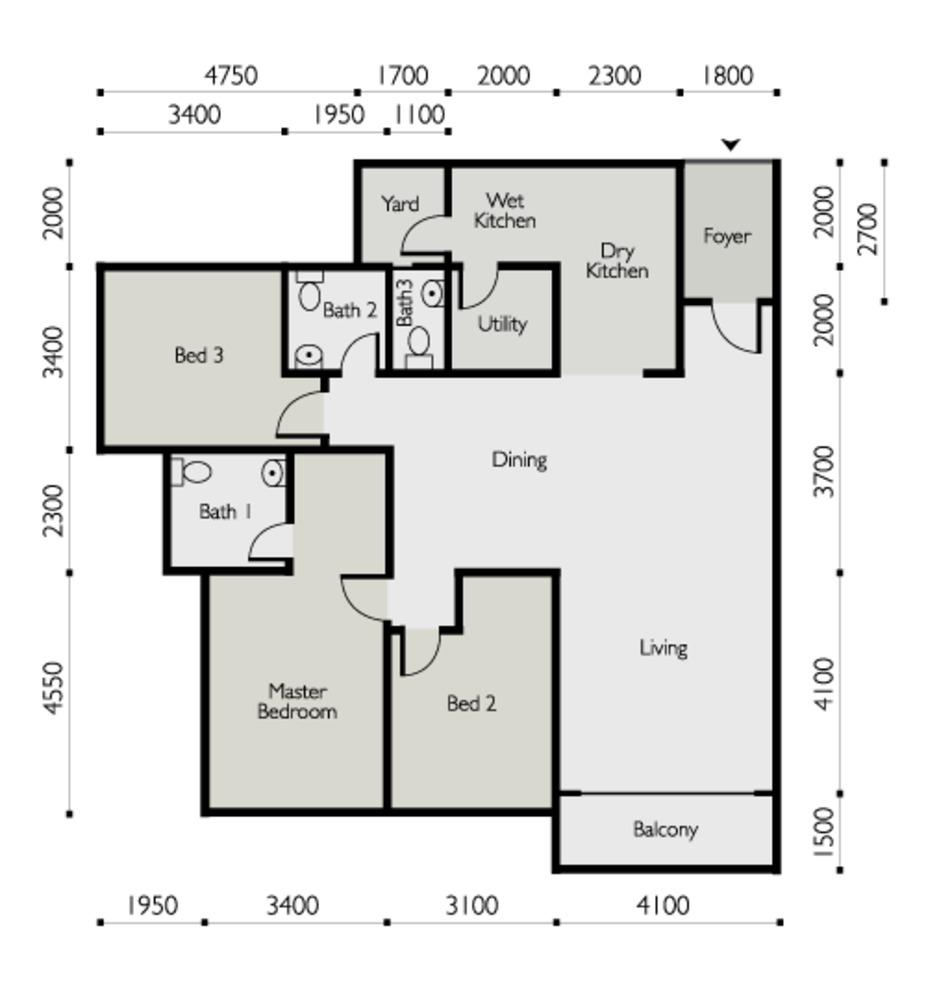 The Light Linear Type B Floor Plan