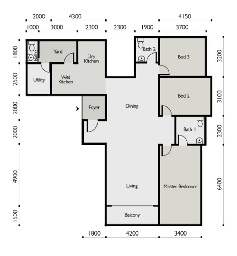 The Light Linear Type C Floor Plan