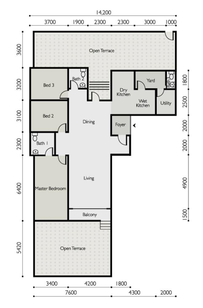 The Light Linear Type D Floor Plan