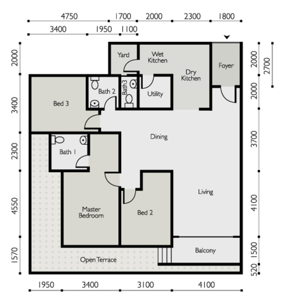 The Light Linear Type E Floor Plan