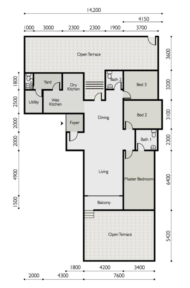 The Light Linear Type F Floor Plan