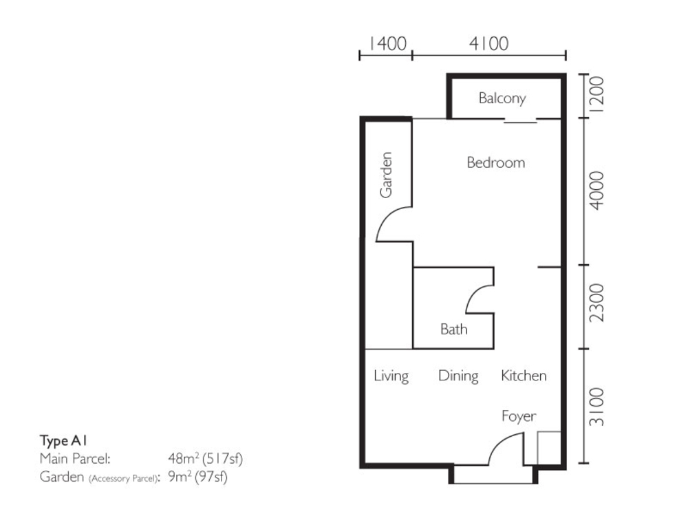 The Light Collection II Type A1 Floor Plan