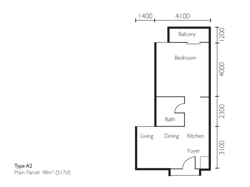 The Light Collection II Type A2 Floor Plan