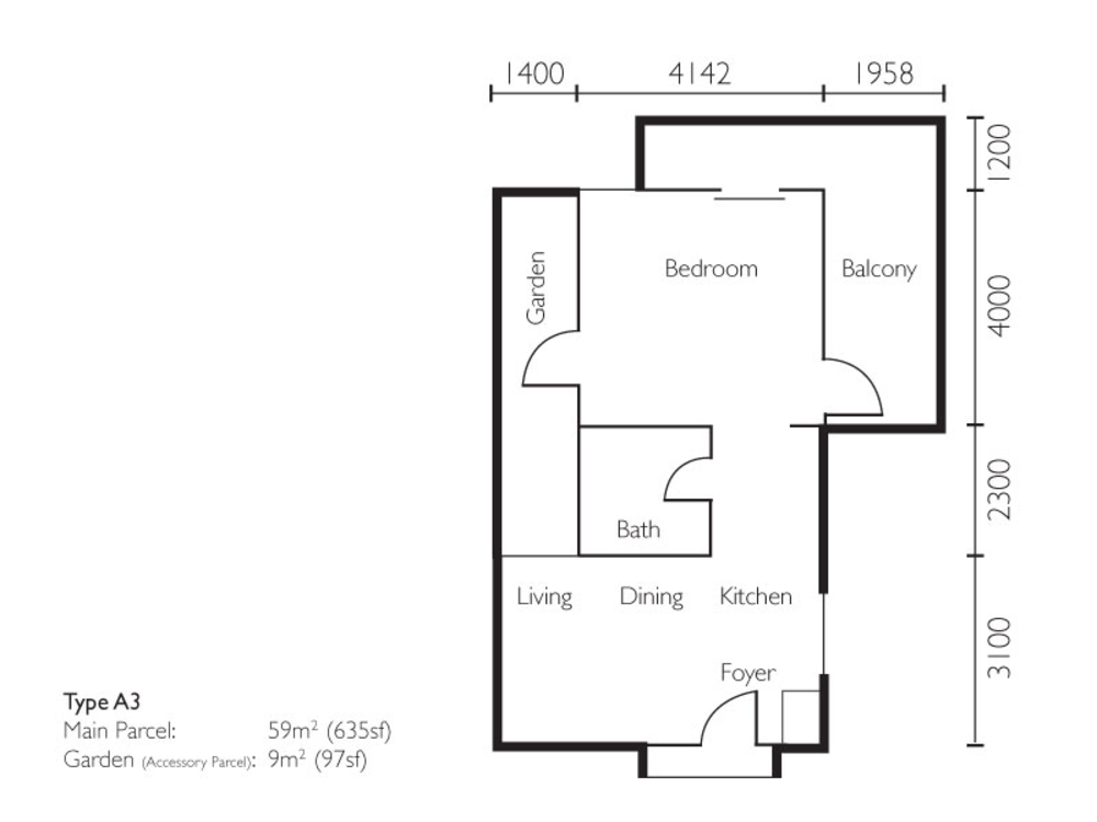 The Light Collection II Type A3 Floor Plan