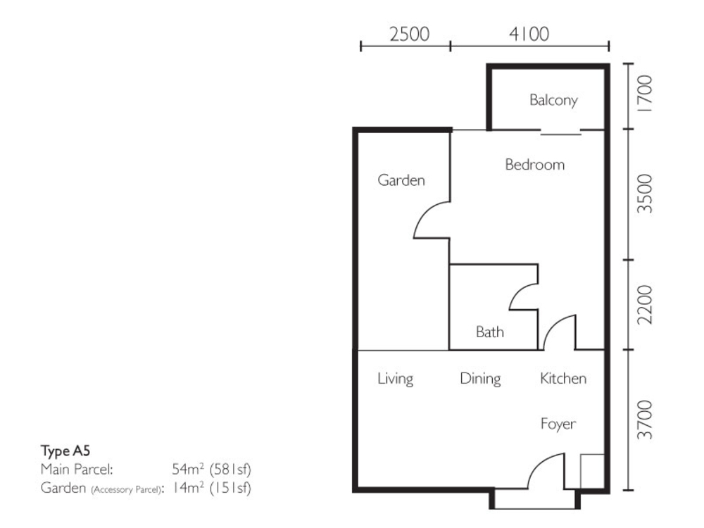 The Light Collection II Type A5 Floor Plan