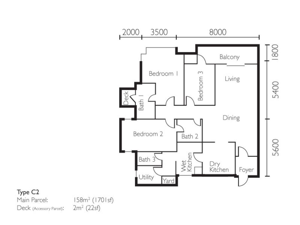 The Light Collection II Type C2 Floor Plan