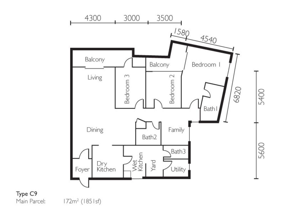 The Light Collection II Type C9 Floor Plan