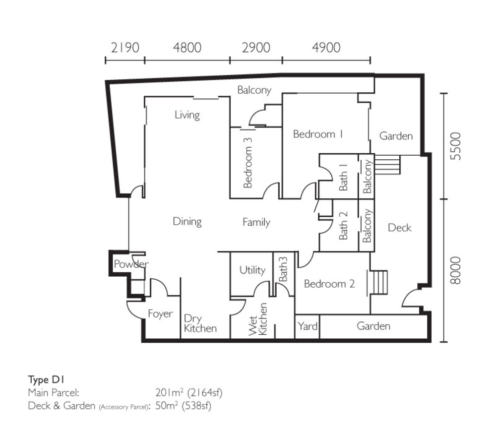 The Light Collection II Type D1 Floor Plan