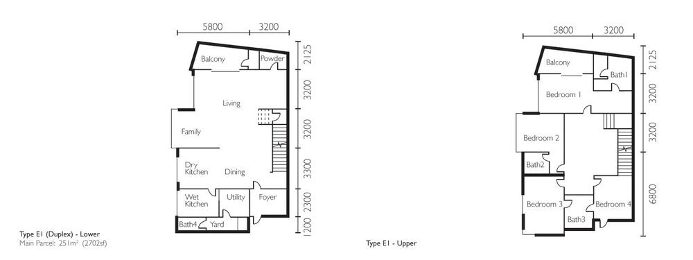 The Light Collection II Type E1 Floor Plan