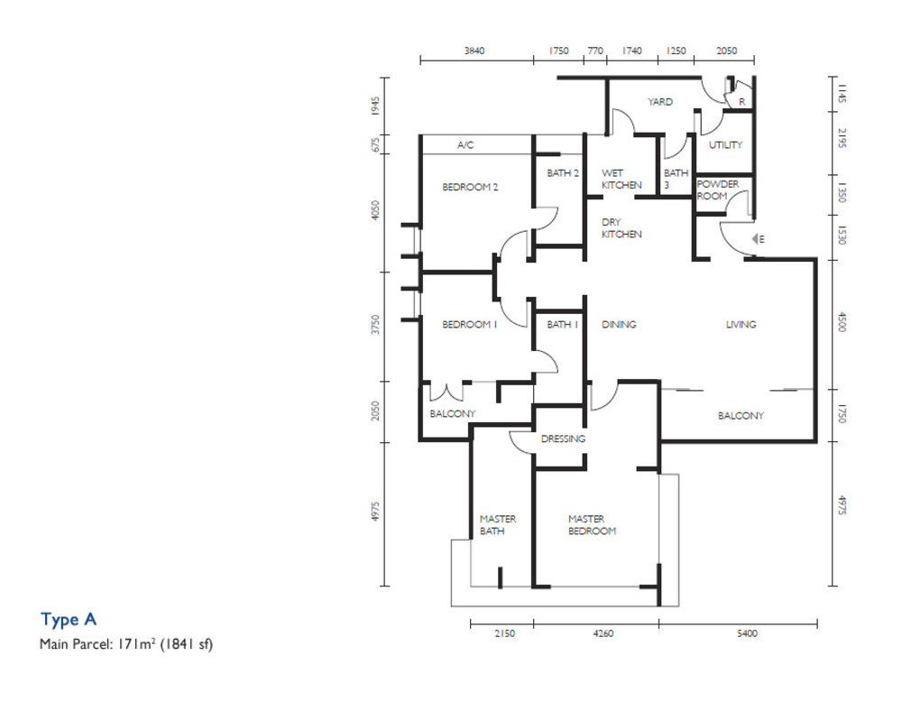 The Light Collection III Type A Floor Plan