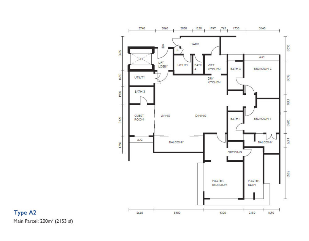 The Light Collection III Type A2 Floor Plan