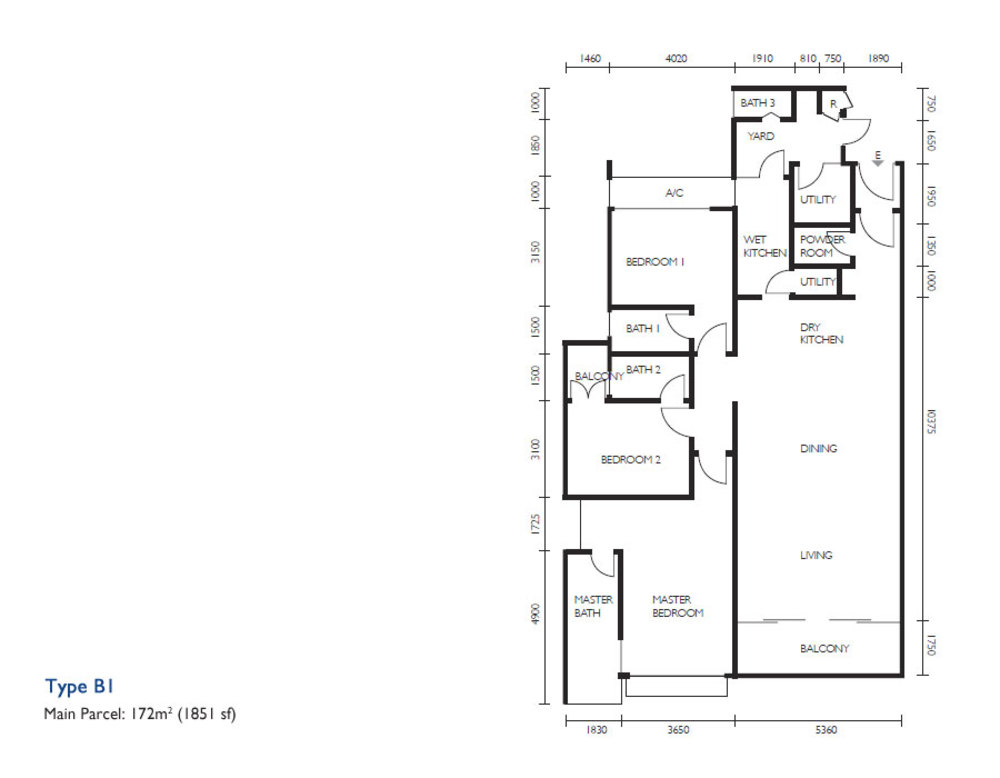 The Light Collection III Type B1 Floor Plan