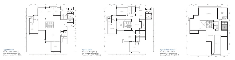 The Light Collection III Type E1 Floor Plan