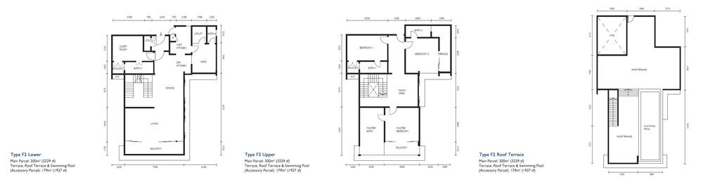 The Light Collection III Type F2 Floor Plan