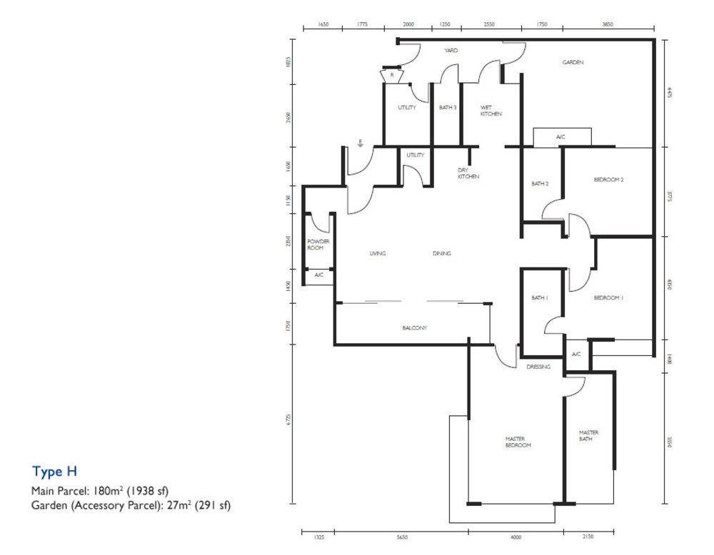 The Light Collection III Type H Floor Plan