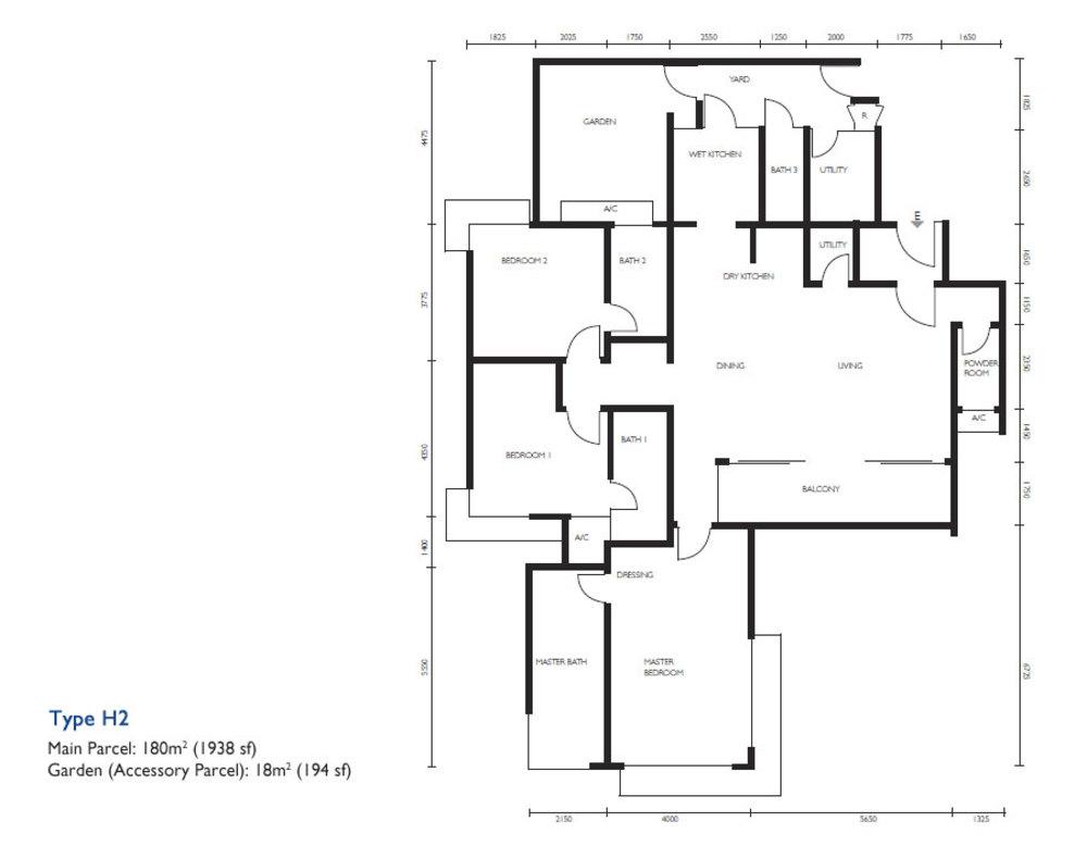 The Light Collection III Type H2 Floor Plan