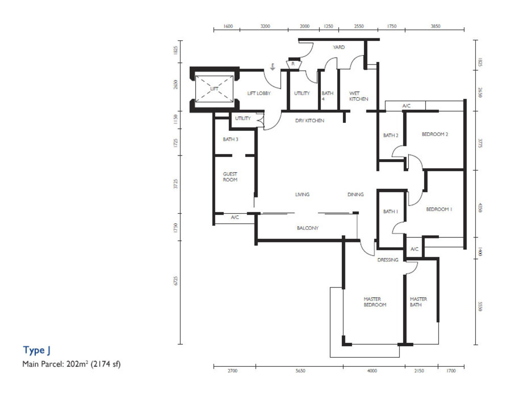 The Light Collection III Type J Floor Plan