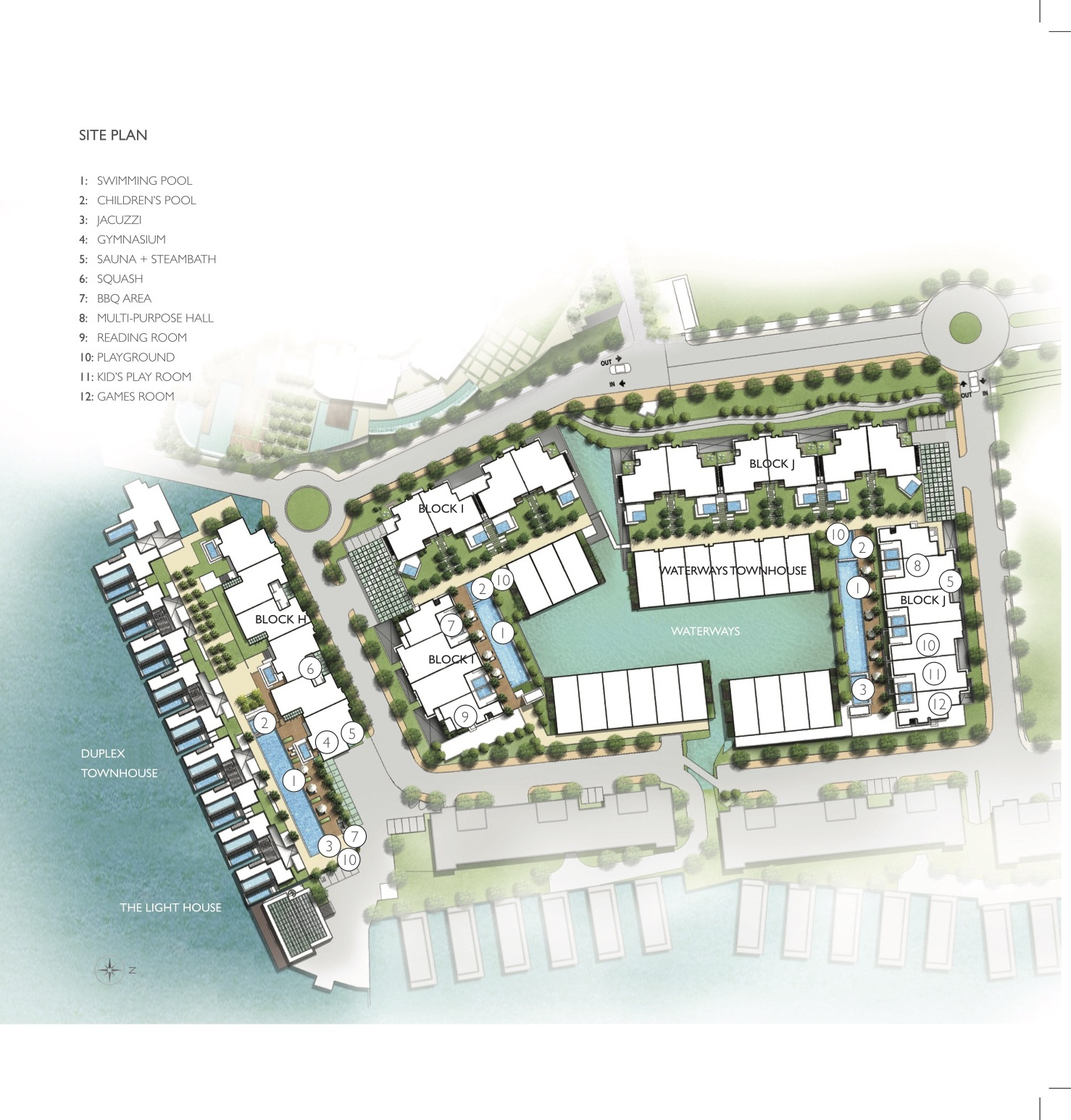 Site Plan of The Light Collection III