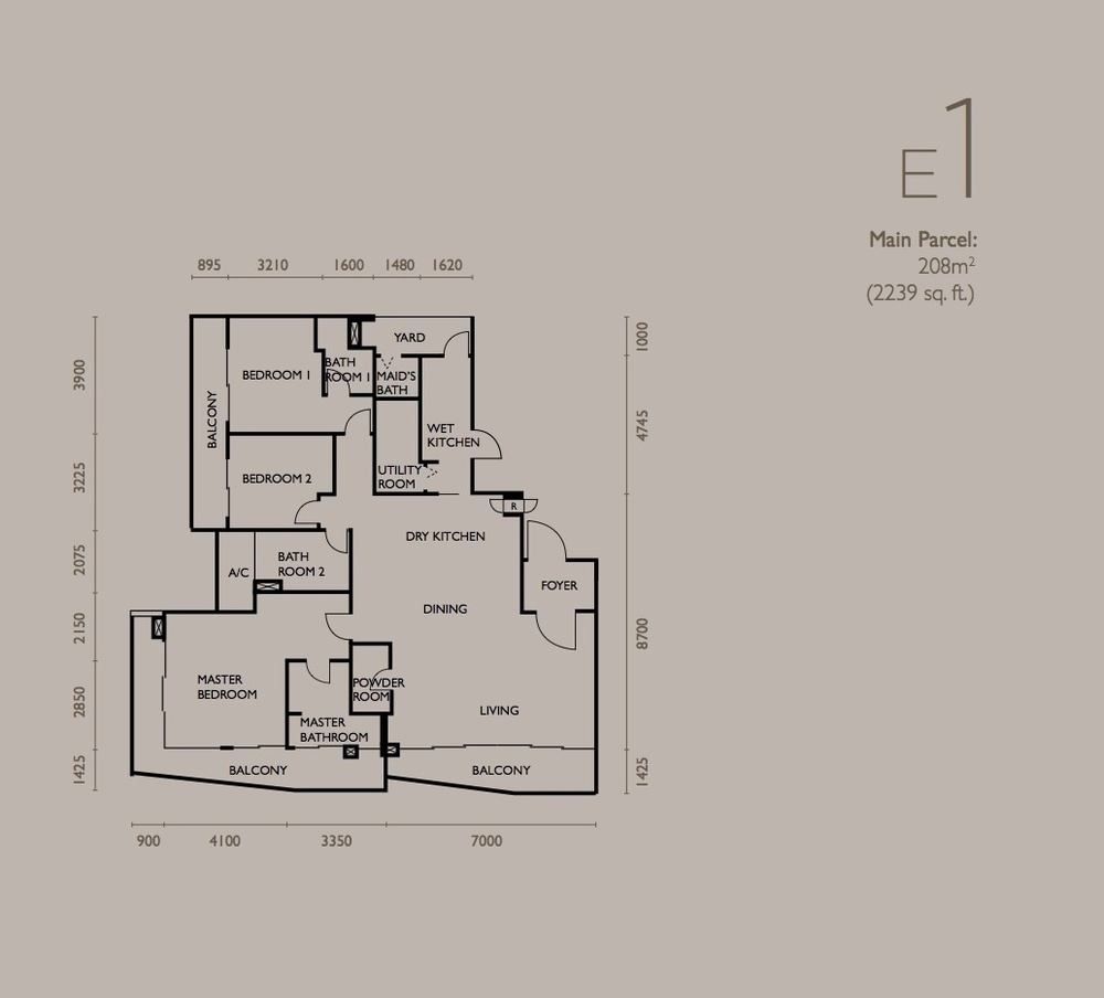 The Light Collection IV Type E1 Floor Plan