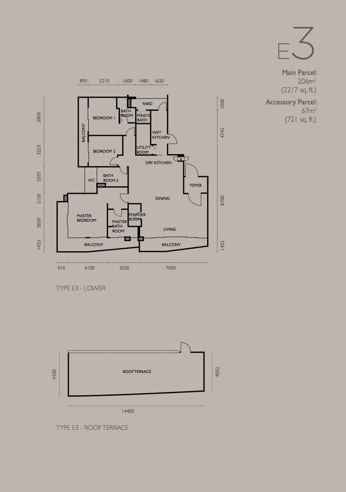 The Light Collection IV Type E3 Floor Plan